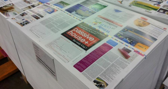 An issue of Passive House Plus at the printers