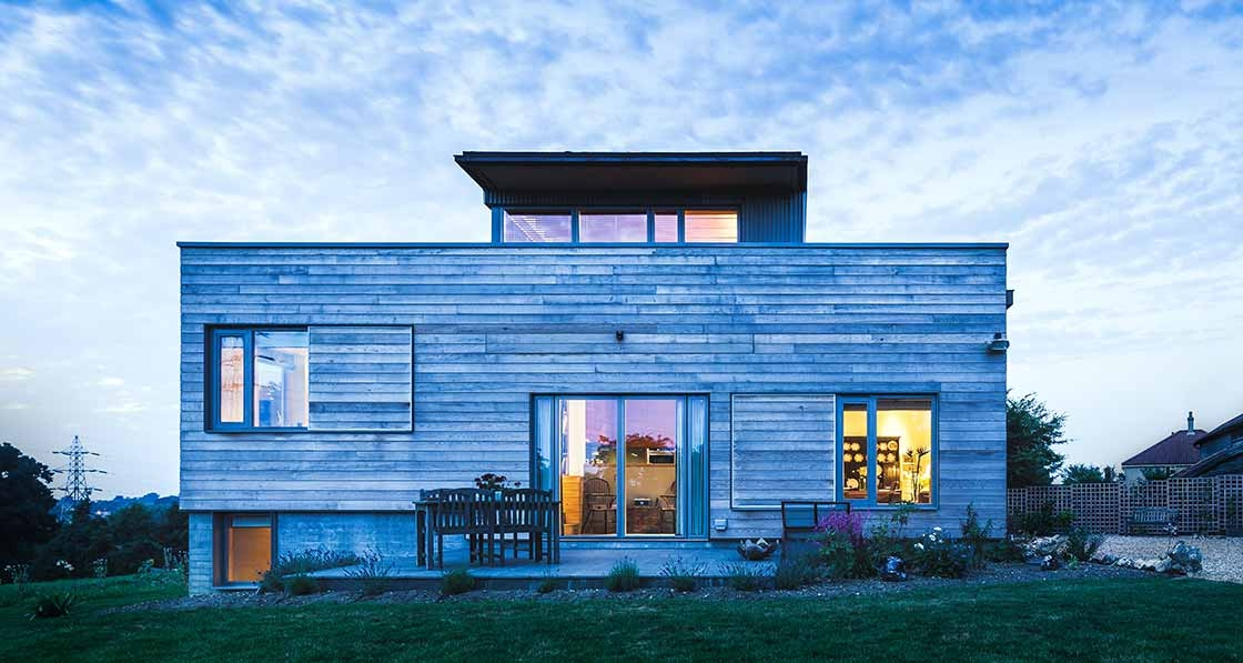 Suffolk eco home embraces wood & warmth