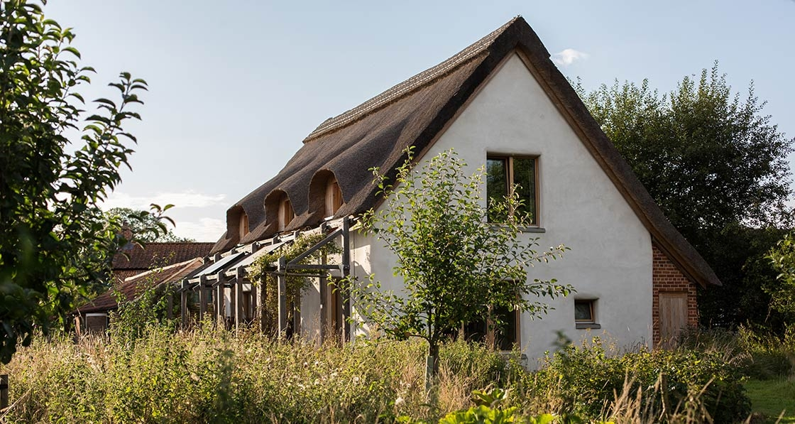 Norfolk straw-bale cottage aims for passive