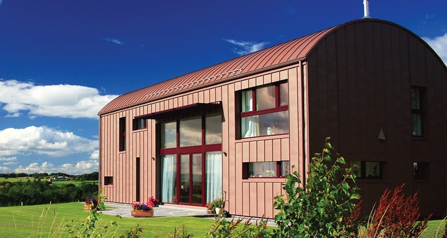 Barn-inspired passive house, Ayrshire
