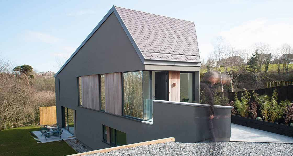 Steeply sustainable - Low carbon passive design triumph on impossible Cork site