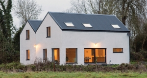 Farmhouse-inspired home goes passive on a shoestring