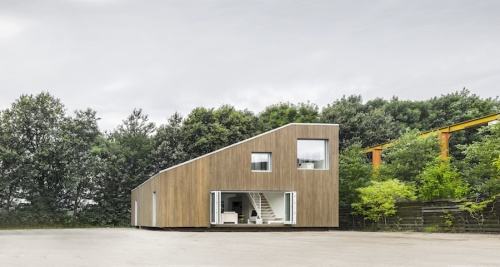 An 'active house' built from shipping containers
