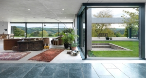 Stunning & airtight Forest of Dean home features vast Internorm glazed wall