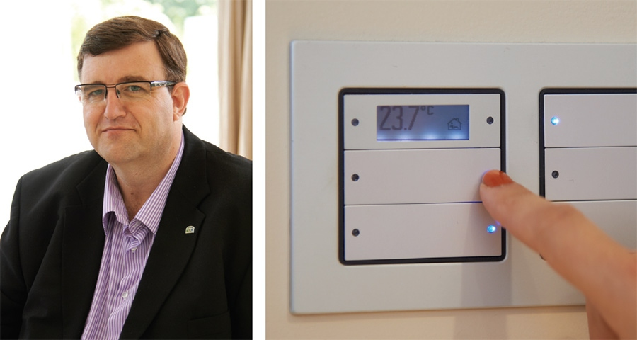 Save energy by using smart heating and lighting controls