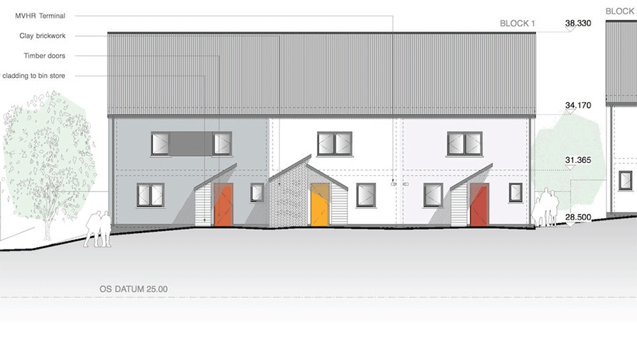 Bristol City Council aim for 'passive house plus' with 23 new eco homes
