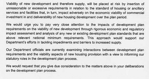 An extract from the 10 June letter from environment minister Alan Kelly and housing minister Paudie Coffey