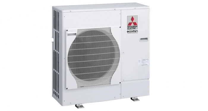 The collector for a Mitsubishi Ecodan airsource heat pump