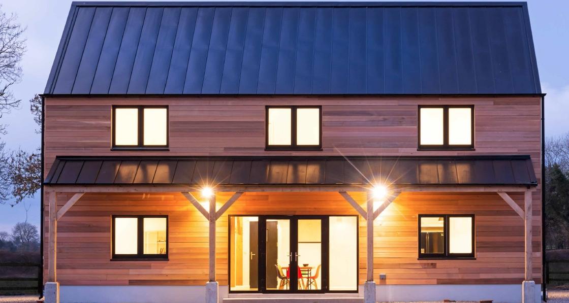 Kildare passive house uses unique oak frame construction