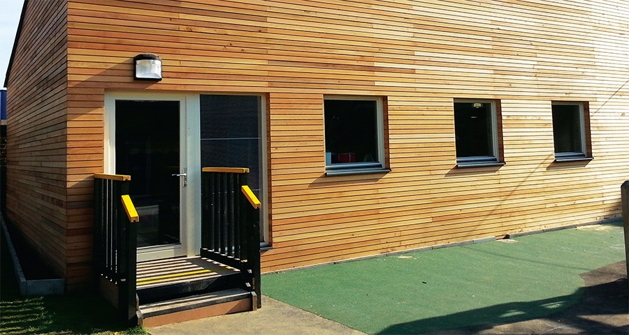 New London classroom brings passive comfort to school prefabs