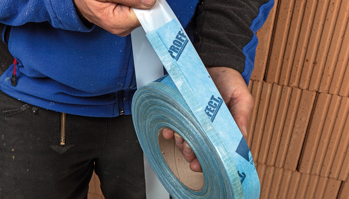Pro Clima launch pre-folded plasterable airtight tape Tescon Profect