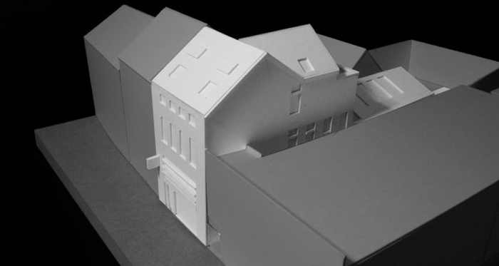 A model of the planned passive house pharmacy in Clonmel, Co Tipperary