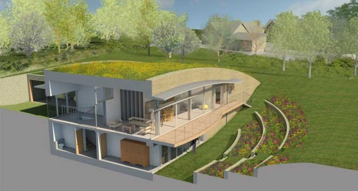 Cotswolds passive house to merge prehistoric & avant garde efficiency