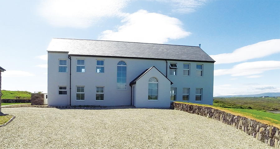 West Cork passive farmhouse mixes build methods